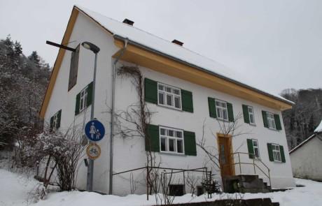 Kalk und Graphen an der Fassade